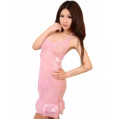Promo Sexy Baby doll Lingerie Pink Night Dress