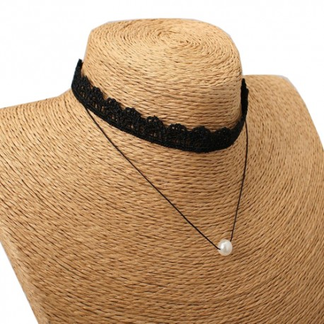 Lace Pearl Collar Necklace For Women